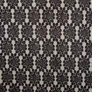 Pletivo, čipka, 18992-8, črno bela