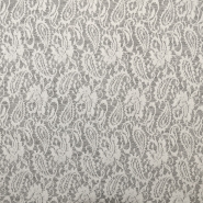 Pletivo, poliester, 18992-9, belo siva