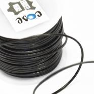 Vrvica, usnjena, 1mm, 18009-4761, črna