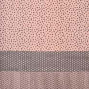 Pletivo, jersey, točke, 19008-092, ružičasto-siva