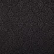 Pletivo, poliester, geometrijski, 18992-27, črna