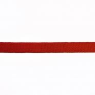 Traka, pamuk, keper, 15 mm, 15835-6230, crvena