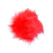 Cof, umetno krzno, 12cm, 18888-009, rdeča