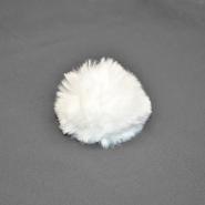 Cof, umetno krzno, 6cm, 18890-1, bela