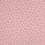 Tetra tkanina, dvostruka, cvjetni, 19029-003, ružičasta