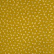 Tetra tkanina, dvojna, cvetlični, 19029-007, rumena
