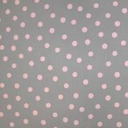 Tetra tkanina, dvojna, pike, 19031-002, sivo roza