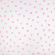 Tetra tkanina, dvostruka, 19031-004, bijelo-ružičasta
