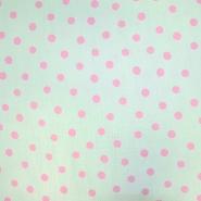 Tetra tkanina, dvojna, pike, 19031-006, mint roza