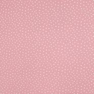 Tetra tkanina, dvojna, pikice, 19032-007, roza