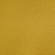 Tetra tkanina, dvostruka, točkice, 19032-011, žuta