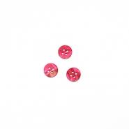 Gumb, srajčni, roza, 10 mm, 2764-5