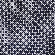 Jersey, Baumwolle, Meer, 19053-003, blau