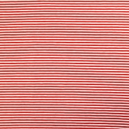 Jersey, pamuk, crte, 16153-115, crvena