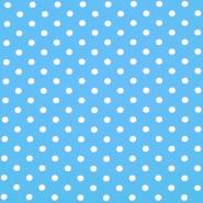 Pamuk, popelin, točke, 16048-502, plava