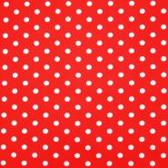 Bombaž, poplin, pike, 16048-515, rdeča