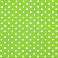 Pamuk, popelin, točke, 16048-524, zelena