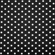 Bombaž, poplin, pike, 16048-569, črna