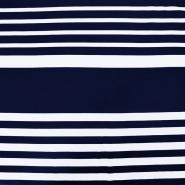 Jersey, viskoza, črte, 15988-512, modro bela