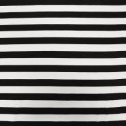Jersey, Viskose, Streifen, 15988-611, schwarz-weiß