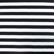 Jersey, viskoza, črte, 15988-612, modro bela