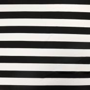 Jersey, viskoza, črte, 15988-811, črno bela
