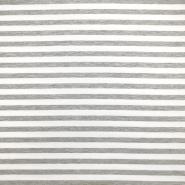Sweatshirtstoff, Streifen, 19077-003, grau-weiß