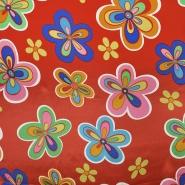 Satin, Polyester, floral, 19094-0001