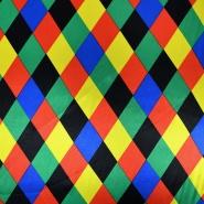 Satin, polyester, stripes, 4841-2