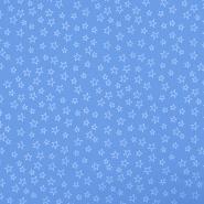 Pamuk, popelin, zvijezde, 19134-003, svjetloplava