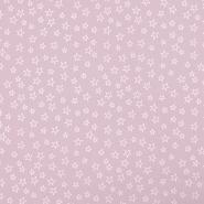 Bombaž, poplin, zvezde, 19134-013, puder roza