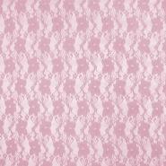 Čipka, elastična, cvjetni, 19138-012, ružičasta