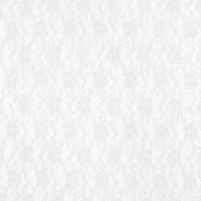 Čipka, elastična, cvjetni, 19138-050, bijela