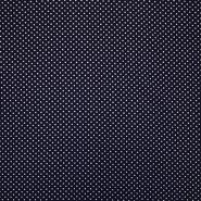 Tkanina, viskoza, točke, 19147-008, tamnoplava