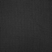 Tkanina, viskoza, točke, 19147-069, crna