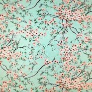 Jersey, viskoza, cvetlični, 19149-021, mint