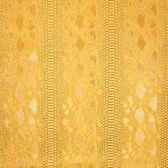 Umetno usnje, kača, 17700-A, rumena