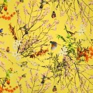 Jersey, bombaž, digital, narava, 19179-575, rumena