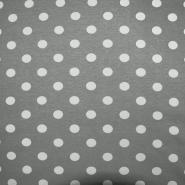Jersey, viskoza, točke, 11632-063, siva