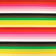Jersey, bombaž, črte, 19191-61680, rumeno zelena