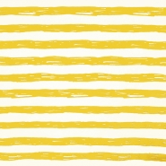 Jersey, bombaž, črte, 19192-61358, belo rumena - Svet metraže