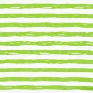Jersey, Baumwolle, Streifen, 19192-61355, grün-weiß