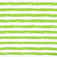 Jersey, bombaž, črte, 19192-61355, belo zelena