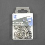 Ringen mit Ausrüstung, 14 mm, 10 Stck, 10065-2, silbern