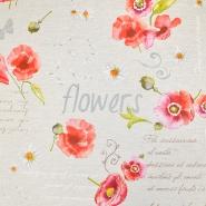 Deko, tisk, impregniran, cvetlični, 19207-6001