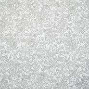 Baumwolle, Popeline, floral, 18280-190, grau