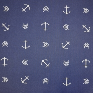 Deko, tisk, impregniran, morski, 19209-107, modra