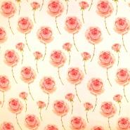 Jersey, bombaž, digital, cvetlični, 19212-12
