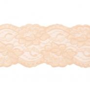 Čipka, elastična, 90 mm, 19220-44441, marelica