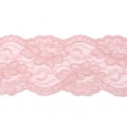 Čipka, elastična, 90 mm, 19220-44429, ružičasta